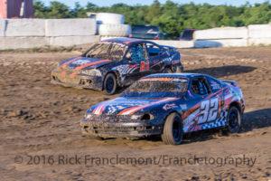 Mini Stock Heat Race at Freedom Motorsports Park on June 17, 2016 Freedom, New York Photo Rick Franclemont/Francletography